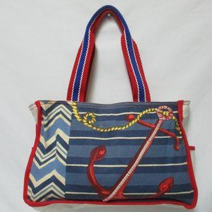 Paul Brent canvas Nautical embroidered tote bag